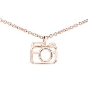 Rose Gold Camera Necklace